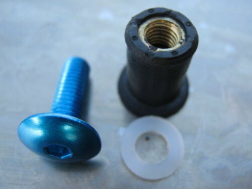 1992-2000 for Triumph Trophy 900 8 bolts blue anodised Screen Bolt Kit