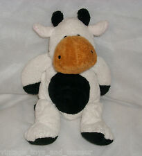 TY PLUFFIES GRAZER THE COW STUFFED ANIMAL PLUSH TOY 2002 BROWN WHITE BLACK SOFT