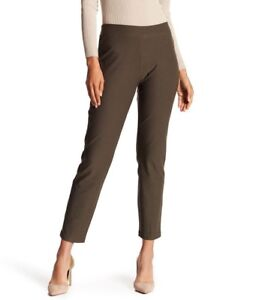 3X NWT Eileen Fisher  Oregano Green Washable  Stretch Crepe Slim Ankle Pant