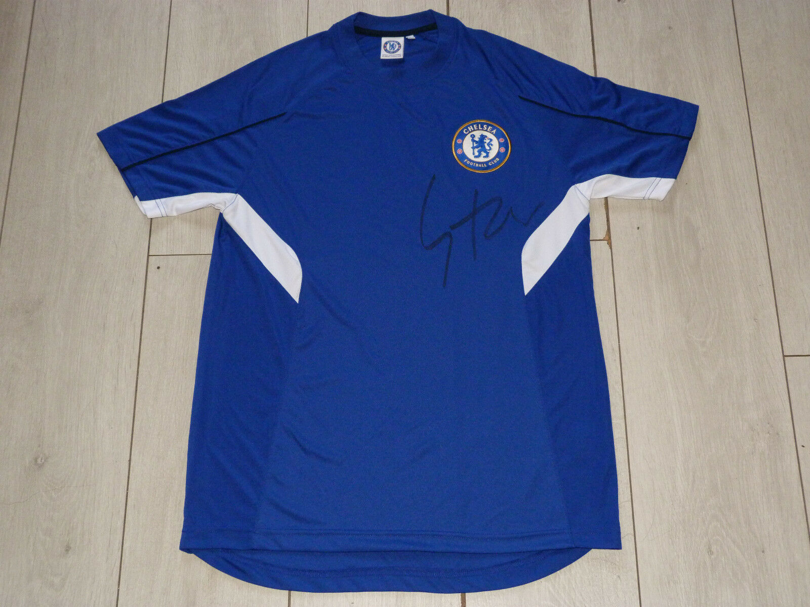 Maillot signé jersey FC CHELSEA bluees signed SAMUEL ETO'O ultras foot