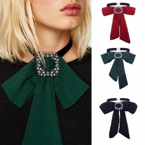 Fashion-Women-Bow-Tie-Chain-Choker-Statement-Chunky-Collar-Pendant-Necklace