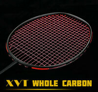 Xvt Professional Whole Carbon Fiber Badminton Racket With String Grip 4u Light