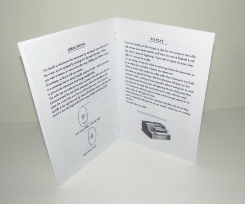 Gem Roller Organ  Reproduction Instruction Manual