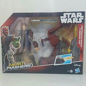 Disney-Hasbro-Star-Wars-Hero-Masher-JEDI-SPEEDER-and-ANAKIN-SKYWALKER