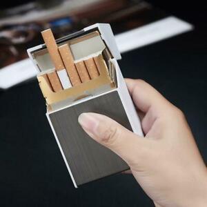 20-sticks-Automatische-Zigarettenetui-mit-winddichtem-Feuerzeug-B-Boxhalter-B8C4