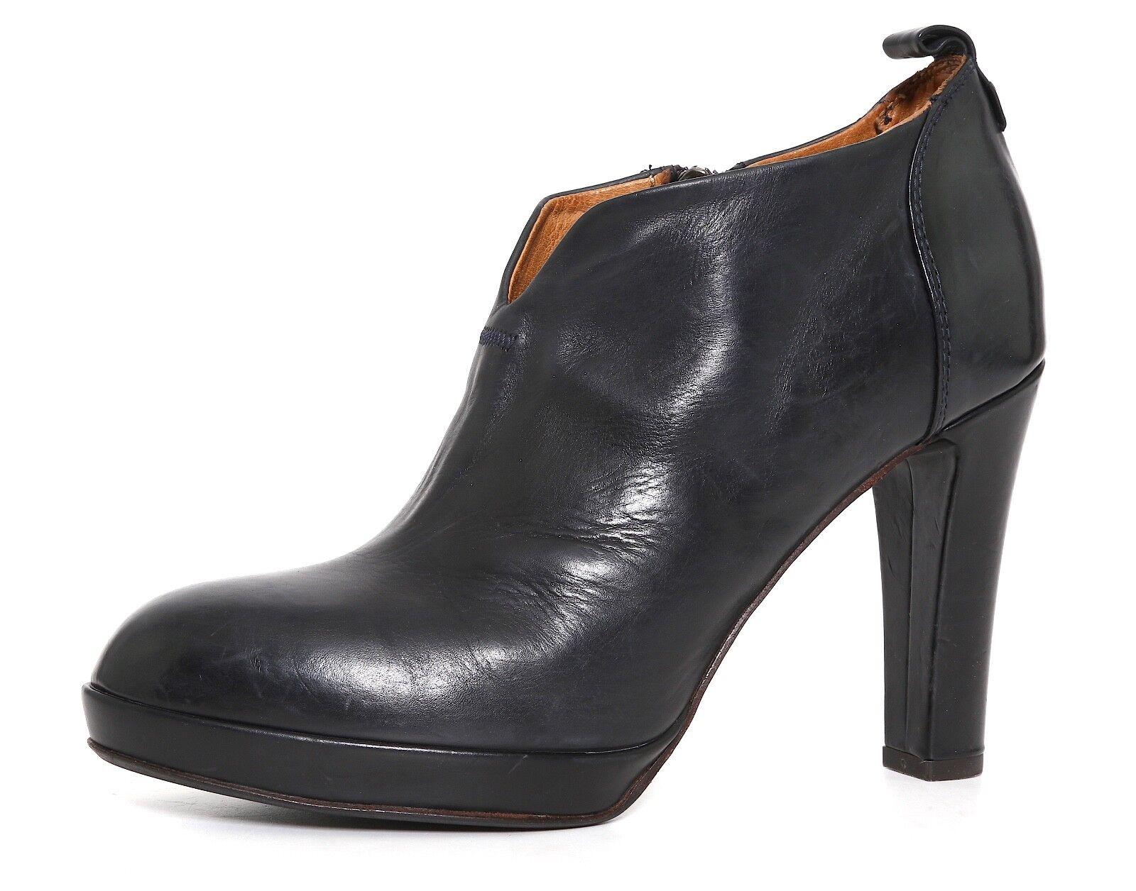 Alberto Fermani High Heel Leather Booties Black Women Sz 39 EUR 2815