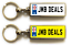 miniature 18 - Personalised Metal Double Sided Registration Number Plate Keyring Any Name /Text