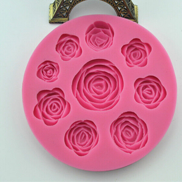 Rose Flower Silicone Mould for Polymer Clay Candy Cake Decorating Fondant Resin