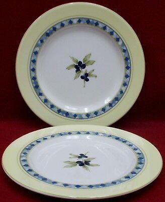 "CARMINA by Royal Doulton Cereal Bowl 6/"" White Lemons Blue Band"