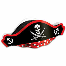 Pack of 12 Cardboard Captain Jack Pirate Hat Party Hats