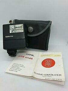 SUNPAK-GX14-ELECTRONIC-FLASH-GUN-with-Instructions-and-a-Case