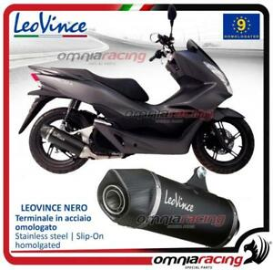 Leovince Nero Slip On Exhaust Steel Homologated Honda Pcx 125150