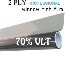 "70% VLT Black Car Window Tint Film Pro Dyed 30"" x 25' Roll UV Protection"