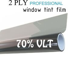 "70% VLT Black Car Window Tint Film Pro Dyed 24"" x 25' Roll UV Protection"