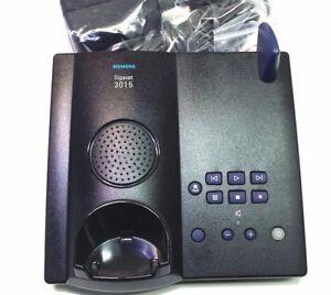 Siemens-Gigaset-3015-Station-de-Base-Repondeur-inclus-bloc-d-039-alimentation-noir
