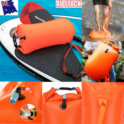 Inflatable Swim Buoy Safety Float Waterproof Air Dry Bag Open Water Swimming HOT