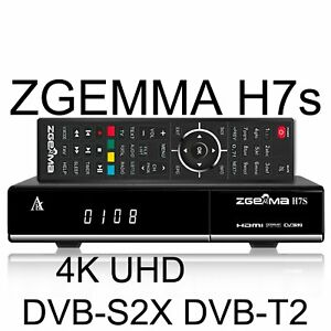 ZGEMMA H7S S2X+T2+C 4K TRIPLO TUNER * SPEDIZIONE GRATUITA *