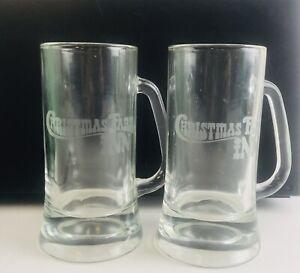 Christmas-Farm-Inn-Pint-Glass-Beer-Mug-Stein-Cabin-Hotel-Country-Rare-Unique