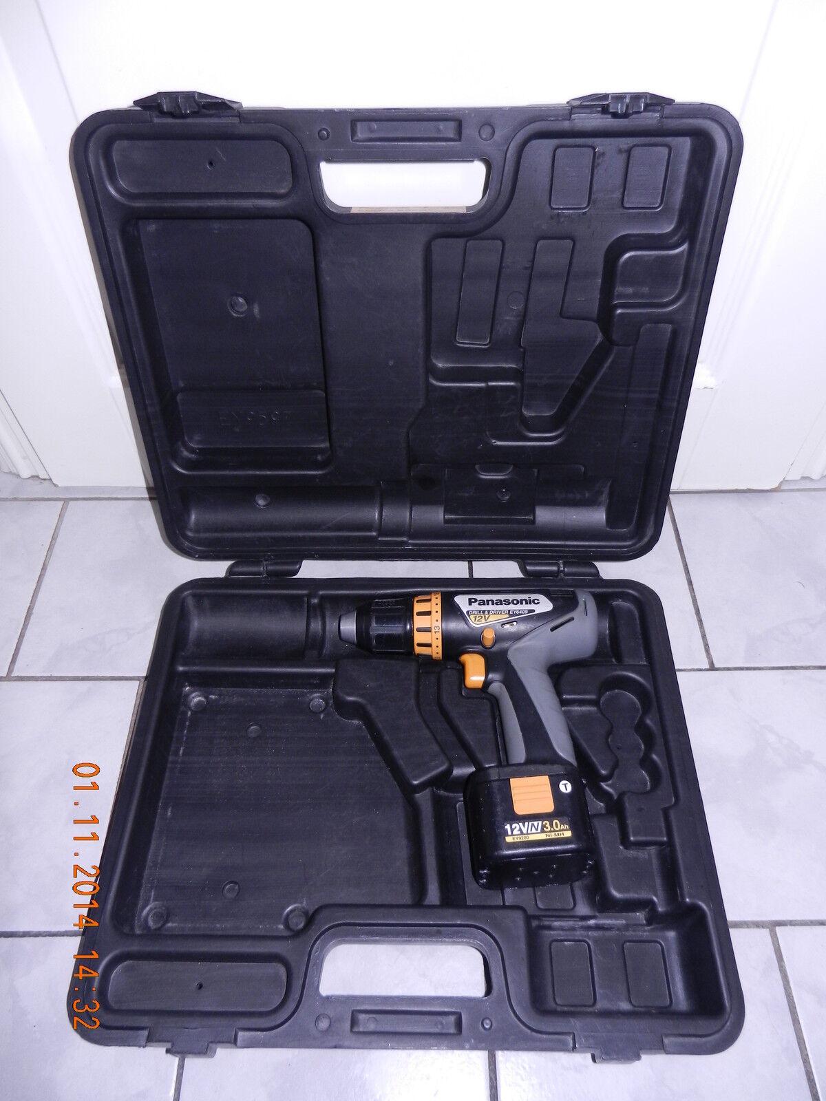 PANASONIC EY6409 GQKW 12V PROFI-Akkuschrauber aus 2005 Jahre, 100%OK+AKKU+Koffer
