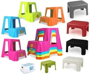 Plastic step up stool children kids toilet potty training