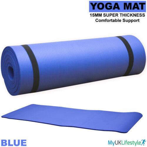 NBR 15 mm Tapis De Yoga Exercice Fitness Gym Entraînement Non-slip Physio Pilates 183x60cm