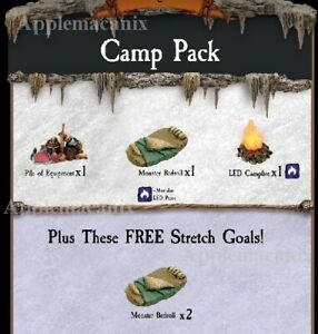 NEW-Dwarven-Forge-Caverns-Deep-Camp-Pack-Add-On-Dressing-Pieces