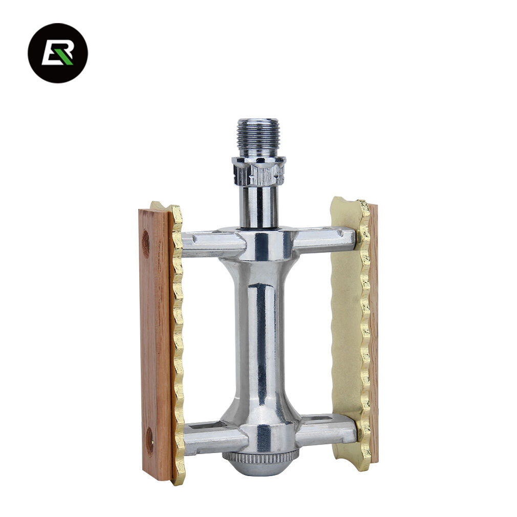 RockBros Bicycle Pedals Solid Wood Classical Chrome Molybdenum Steel Pedals