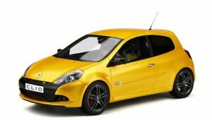 OTTO-MOBILE-350-RENAULT-CLIO-3-RS-Ph2-Sport-Cup-resin-model-car-yellow-1-18th