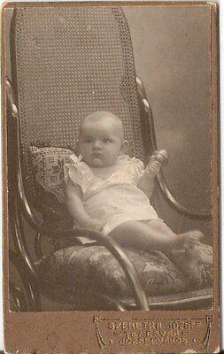 CDV photo Schönes Kinderbild / Baby - Temesvar um 1910