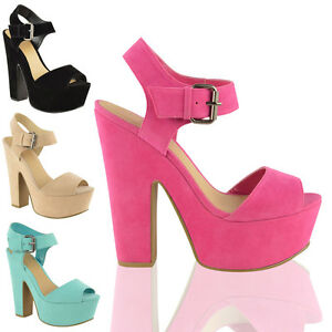 LADIES-WOMENS-HIGH-HEEL-PLATFORM-SANDALS-CHUNKY-BLOCK-WEDGE-BUCKLE-SHOES-SIZE