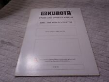 Kubota Tractor One Row Cultivator Parts And Owners Manual B300