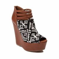 Womens Shi By Journeys Tribe Wedge Style 00971030 Cognac W56 Sr