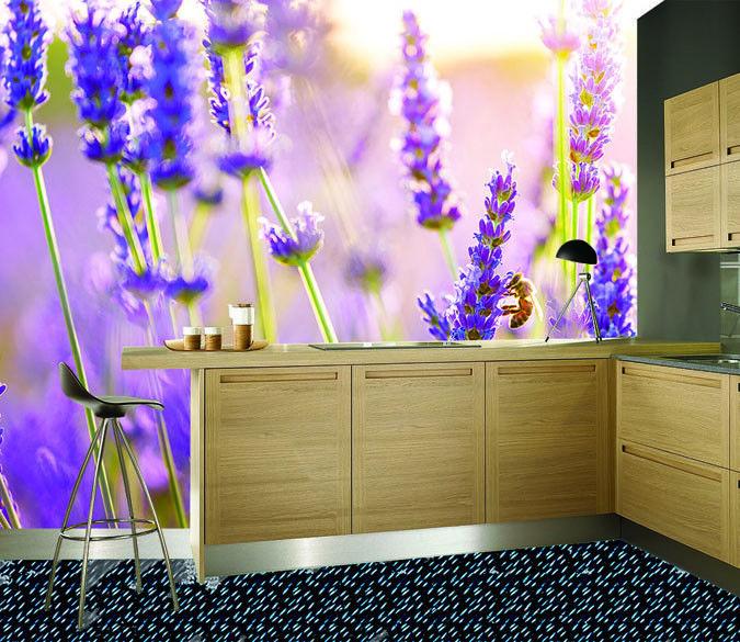 3D Sonnenschein Lavendel 74 Tapete Wandgemälde Tapete Tapeten Bild Familie DE
