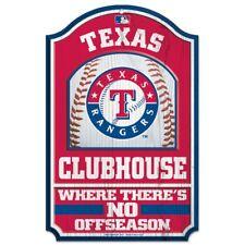 WinCraft Texas Rangers 11 X 17 Wood Sign