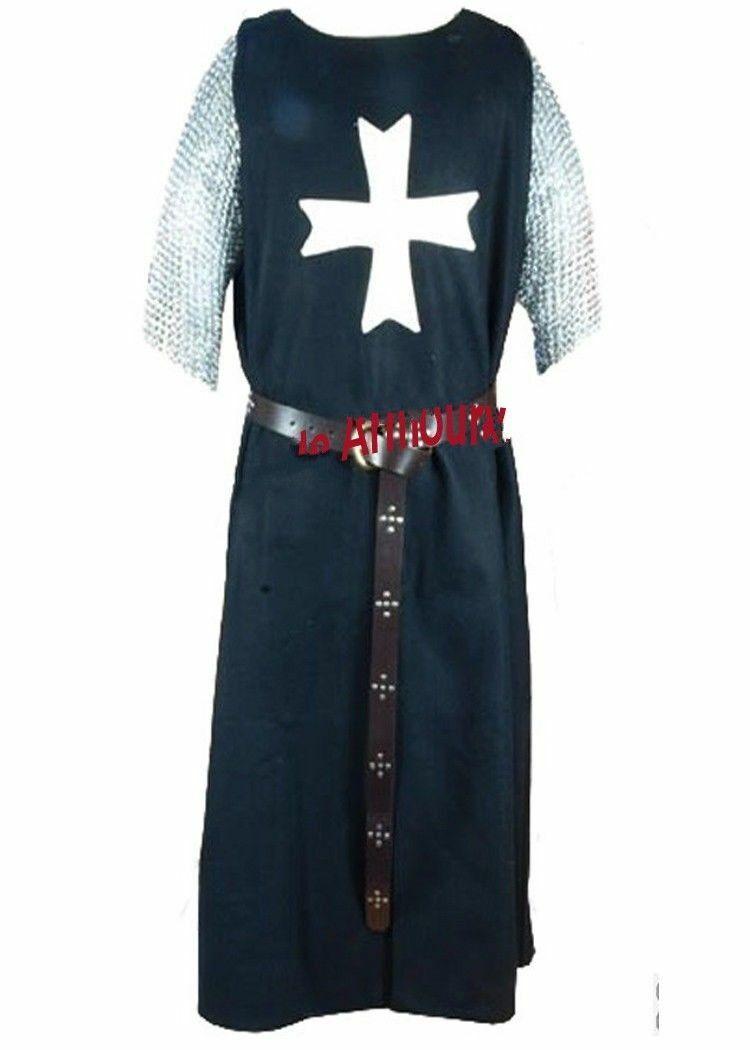 MEDIEVAL TEMPLAR KNIGHT Tunic Surcoat Crusader Sleeveless Renaissance SCA LARP.