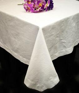 White-Cotton-Hemstitch-Tablecloths-60-034-x-84-034-60-034-x-102-034-60-034-x-120-034