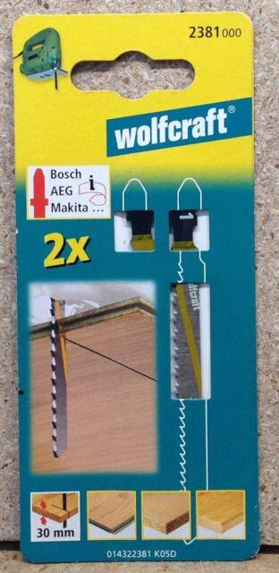 Wolfcraft 2 Stichsägeblätter HCS T- Schaft  Holz Kunststoff  2381000
