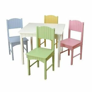 Stock photo  sc 1 st  eBay & Kidkraft Nantucket Table u0026 4 Pastel Chairs Kids Furnitures 26101 | eBay