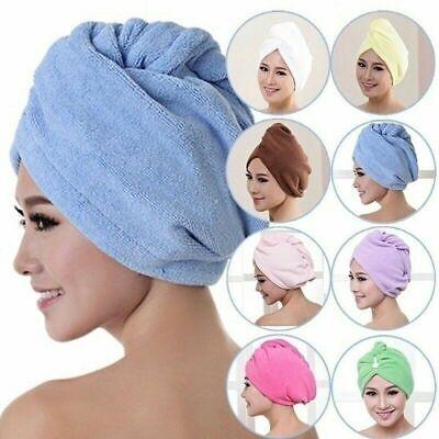 Magic Microfiber Hair Quick Drying Dryer Towel Bath Wrap Hat Fast Dry Cap DD