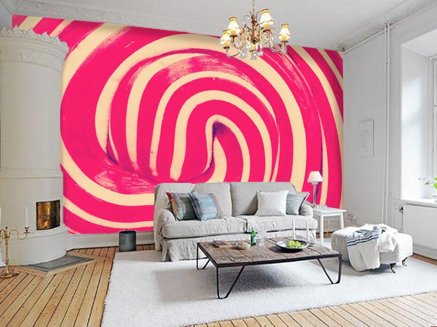 3D Motif Lollipop 6 Photo Papier Peint en Autocollant Murale Plafond Chambre Art