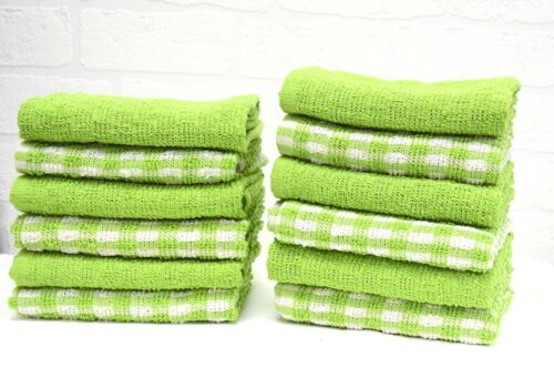 15x Terry 100/% Cotton Tea Towels Set Kitchen Cleaning Dish Cloths Drying Packs