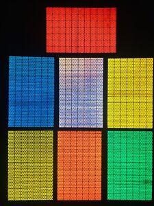 "Many Vivid Colors 4 Oralite Reflective 2/"" x 4/"" V98 Reflector Rectangles"