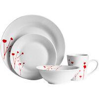16 Or 32 Piece Wild Flower Red Dinner Service Side Plates Bowl Mug Tableware Set