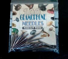 Gramophone needles 4  packs of 100 medium tone