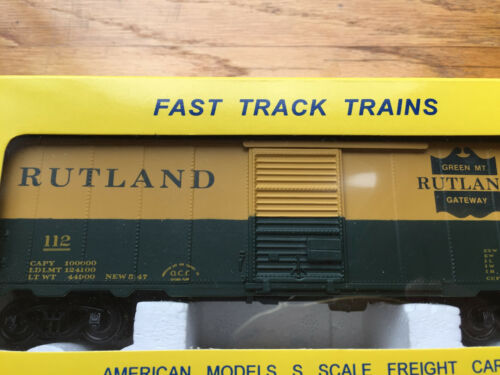 American Models Rutland #112  40/' boxcar RTR  Scale NOS Details about  /NEW