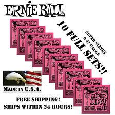 *10 PACK ERNIE BALL SUPER SLINKY 9-42 ELECTRIC GUITAR STRINGS 2223 (10 SETS)*