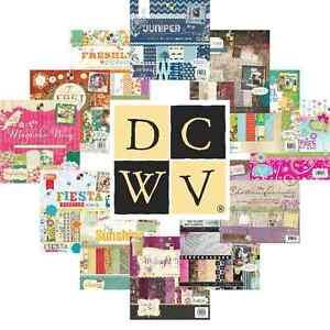 DCWV-12x12-Papers-SAMPLE-TASTER-PACKS-Die-Cuts-with-A-View-Scrapbook-Cardstock