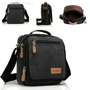 0c28345a5b9a Image is loading Canvas-Messenger-Bag-Small-Travel-School-Shoulder-Crossbody -