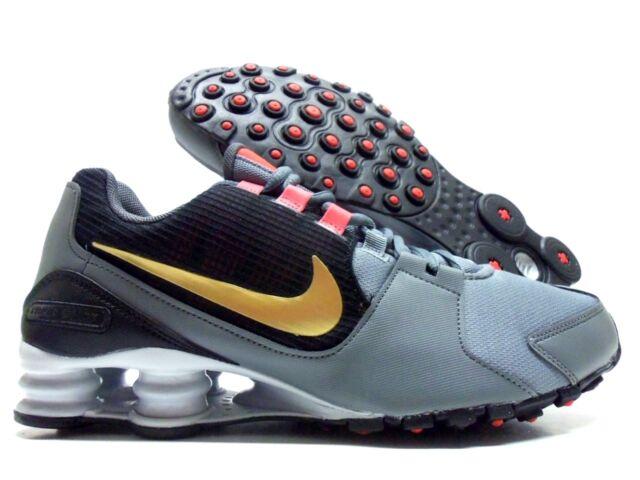 new style 50bf0 d9578 Nike Shox Avenue Mens Running Shoe Size 9 Cool Grey Metallic Gold 833583 007