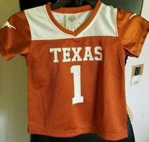 wholesale dealer 2ab9c 444c9 Details about NEW: NCAA University of Texas Longhorns Football Jersey #1  Kids Youth Size 3